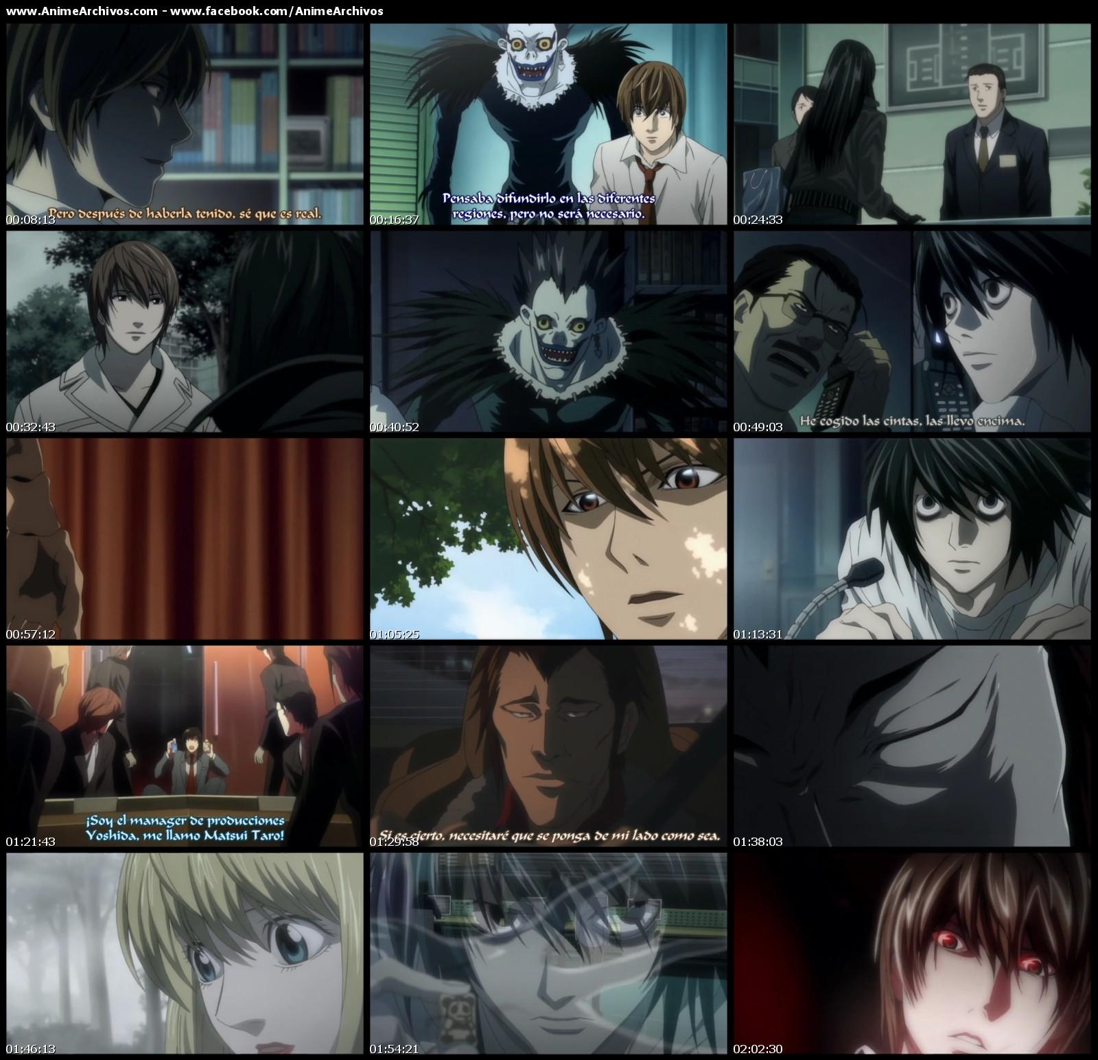 Death Note 720p: Death Note Rewrite Especiales Sub Español [HD